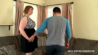A busty cougar picks up a young stud