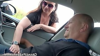 Teen fucked by older guy who picked her up with his car