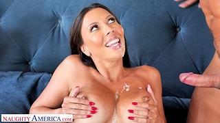 Incredible MILF Rachel Starr gives a BJ and rides his giant detect