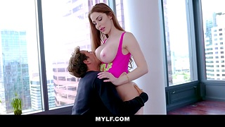 Fucking awesome milf with bug tits Jessa Rose is licked and fucked by her innovative admirer
