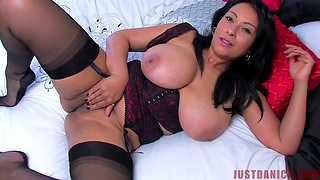 Closeup homemade video of Danica Collins playing with her cunt