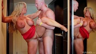 Closeup video of hardcore fucking take fake boobs tie the knot Alura Jenson